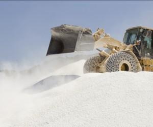 Bulldozer at mining company