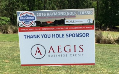 CECO hole sponsor sign