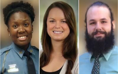 Composite photo of 3 Aegis interns