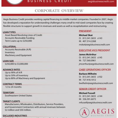 Aegis corporate overview