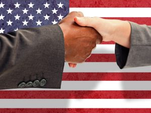 Handshake of government contractor