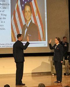 Taking oath of service