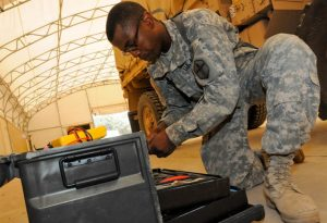 Military Tool Kit in use
